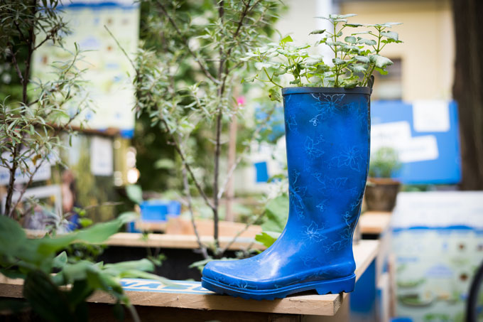 Upcycling in Garten - Foto: NABU/Sebastian Hennigs